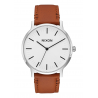 NIXON PORTER LEATHER , 40 MM WHITE SUNRAY / SADDLE
