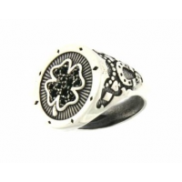 RUE DES MILLE - SWEET ROCK RING AND BLACK ZIRCONS