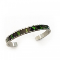 BRACCIALE SPEEDOMETER OFFICIAL CLASSIC SKULL LIME IN TOTAL BLACK